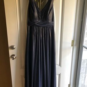 Dess collections navy shimmer bridesmaid dress
